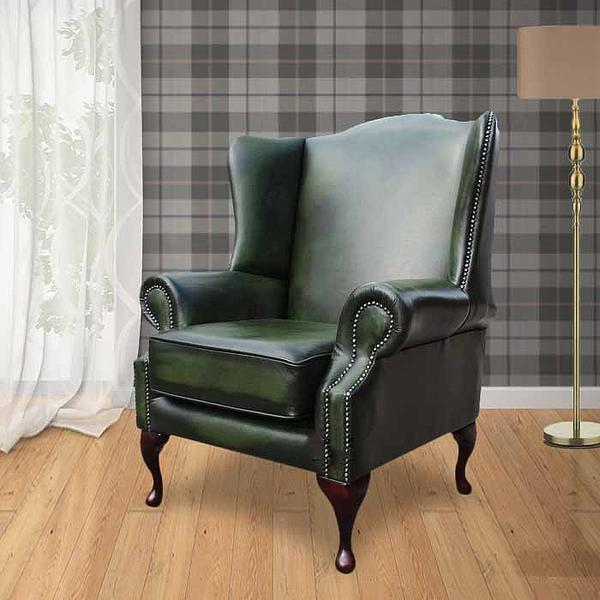 Chesterfield Sofa Saxon: Chesterfield Flat Wing Saxon Mallory High Back Wing Chair