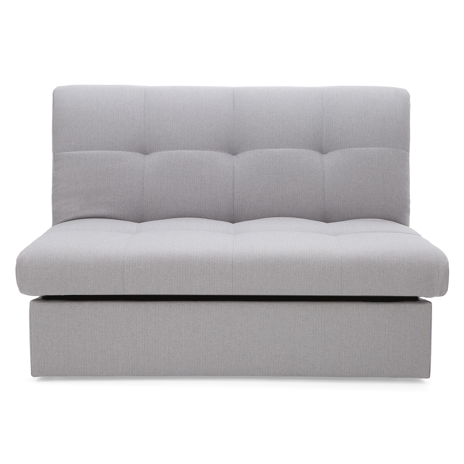 Rowan Small Double Sofa Bed Grey Herringbone Dunelm